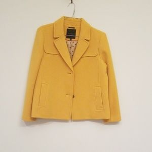Mustard Talbots winter coat